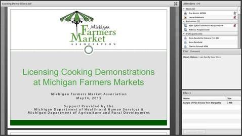 Thumbnail for entry Cooking Demonstration Webinar (5/14/15)