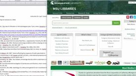 Searching for electronic articles for GLG 498
