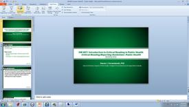 Thumbnail for entry HM807 Introduction_to_Critical_Reading_in_Public_Health_Critical_Reading-_Public_Health_Rep