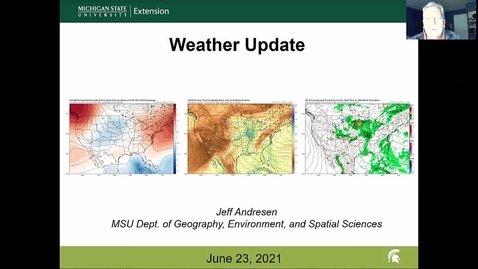 Thumbnail for entry Agricultural weather forecast for June 23, 2021