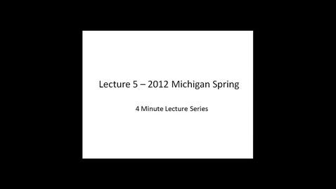 Thumbnail for entry 2012 Michigan Spring