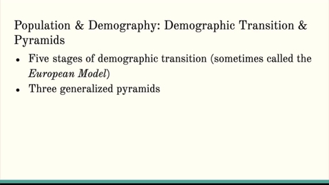 Thumbnail for entry ISS310: Demographic Transition & Population Pyramids