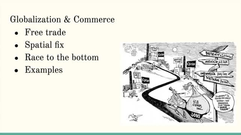 Thumbnail for entry ISS310: Globalization & Commerce