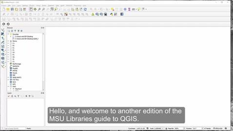 Thumbnail for entry How to Import tabular data (CSV) into QGIS