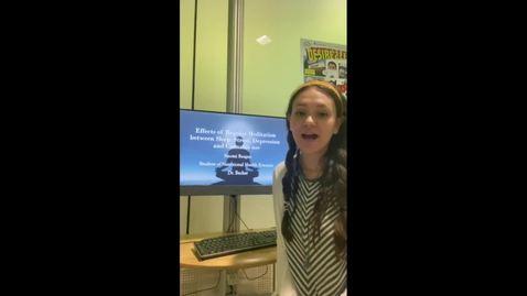Thumbnail for entry Effects of Regular Meditation between Sleep, Stress, Depression and Cannabis Use Video Presentation Naomi Beagan HNF 485