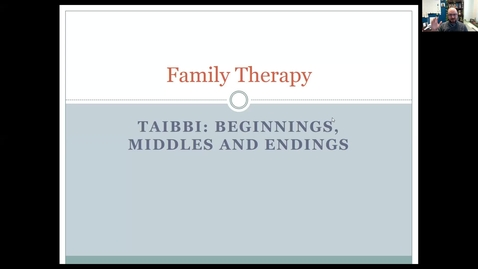 Thumbnail for entry Taibbi- Beginnings, Middles, and Endings