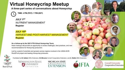 Thumbnail for entry Honeycrisp Virtual Meetup #3 - Nutrition Part 1 Lailiang Cheng
