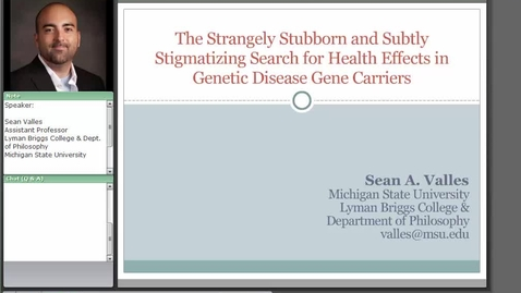 Thumbnail for entry The Strangely Stubborn and Subtly Stigmatizing Search for Health Effects in Genetic Disease Carriers