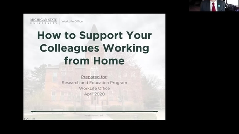 Thumbnail for entry How to Support Your Colleagues Working from Home