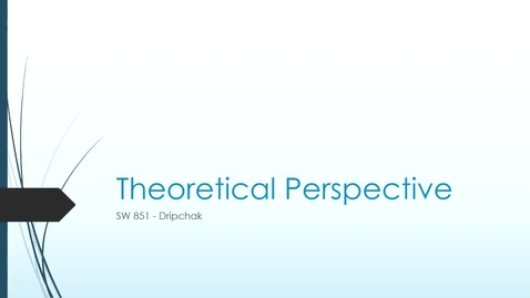 Thumbnail for entry Theoretical Perspective Lens