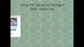 Thumbnail for entry Library Orientation for MPH Program