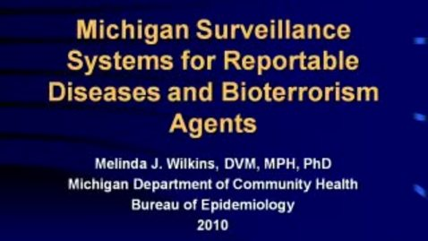 Thumbnail for entry VM_544_10282010_MI_Surveillance__Wilkins
