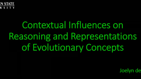 Thumbnail for entry Contextual Influences on Reasoning and Representations of Evolutionary Concepts