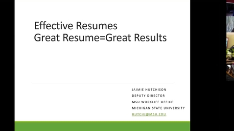 Thumbnail for entry Resume Writing and HERC Career Resources