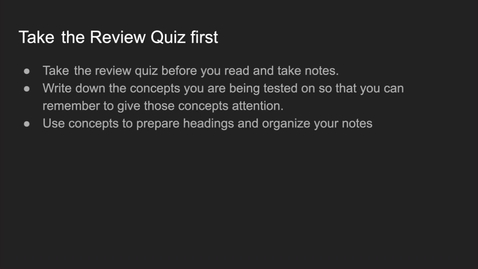 Thumbnail for entry GEO206: Using the review quiz as a study tool