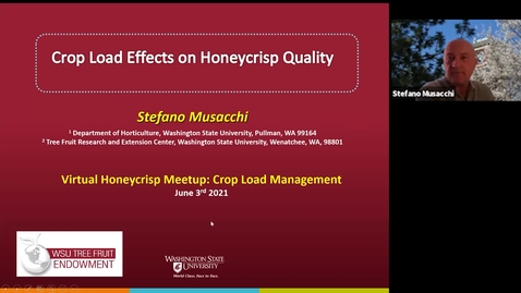 Thumbnail for entry Honeycrisp Virtual Meetup #1 - Crop Load Management Part 2 (Stefano Musacchi)