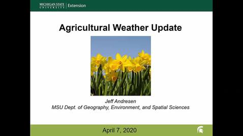 Thumbnail for entry Agricultural weather forecast for April 7, 2020