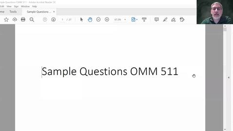 Thumbnail for entry OMM 511 Sample Question Review