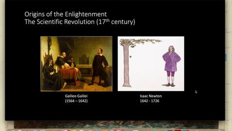 Thumbnail for entry Lecture 1.3 - Part 5 (Origins of the Enlightenment)