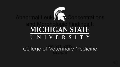 Thumbnail for entry VM 531-Abnormal Leukocyte Concentrations and Morphologic Findings