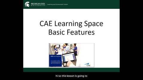 Thumbnail for entry Learning Space Basic Features
