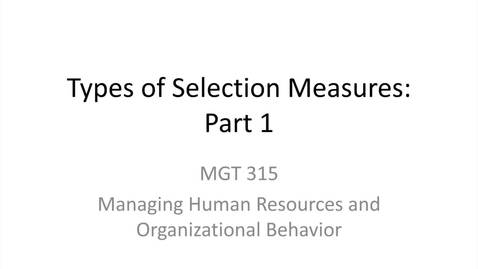 Thumbnail for entry 3.Types of Selection Measures.Part 1