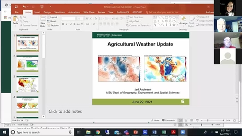 Thumbnail for entry Agricultural weather forecast for June 22, 2021