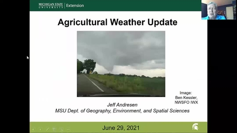 Thumbnail for entry Agricultural weather forecast for June 29, 2021