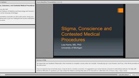 Thumbnail for entry Stigma, Conscience and Contested Medical Procedures