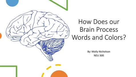 Thumbnail for entry How Does Our Brain Process Words and Colors?