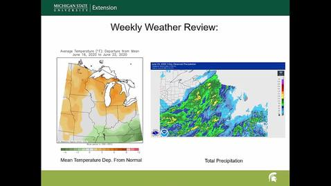 Thumbnail for entry Agricultural weather forecast for June 24, 2020