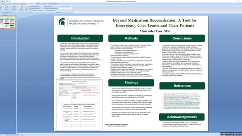 Thumbnail for entry Scholarly Project Presentation Manvinder Toor