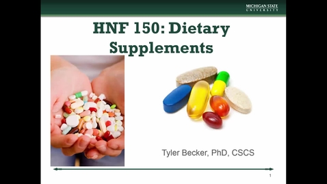 Thumbnail for entry HNF 150 - Mini Lecture 6.8 - Dietary Supplements