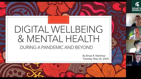 Thumbnail for entry Digital Well-being and Mental Health During a Pandemic and Beyond