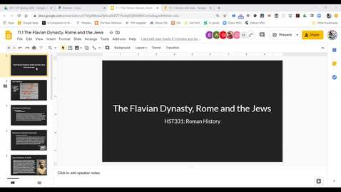 Thumbnail for entry Lecture 11.1 The Flavian Dynasty, Rome & the Jews
