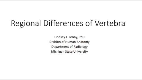 Thumbnail for entry Regional Comparison of Vertebra Fall 2020