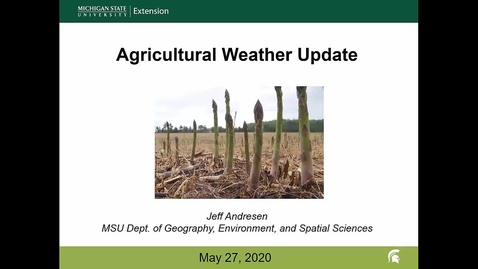Thumbnail for entry Agricultural weather forecast for May 27, 2020