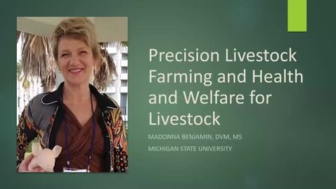 Thumbnail for entry New MSU Livstock Research and Precision Technology: Madonna Benjamin