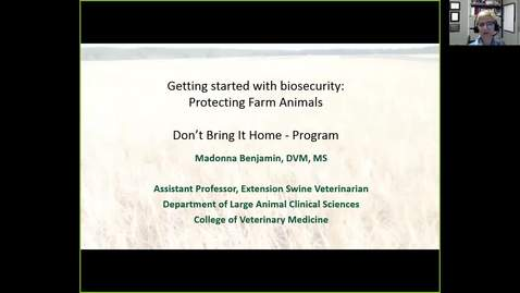 Thumbnail for entry Biosecurity Protecting farm animal health