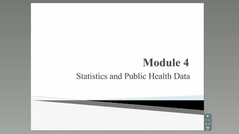 Thumbnail for entry Statistics and Public Health Data