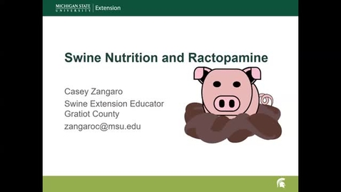 Thumbnail for entry Swine Nutrition and Ractopamine Update