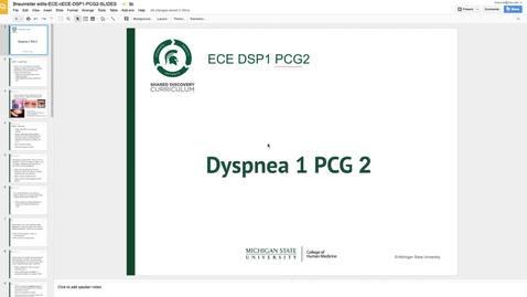 Thumbnail for entry Dyspnea week1 PCG2 2017-2018
