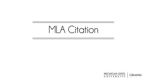 Thumbnail for entry MLA Citations (8th ed.)