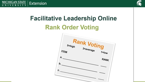 Thumbnail for entry Rank Order Voting Facilitative Leadership Online