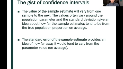 Thumbnail for entry STT 200 One Proportion Confidence Intervals, Part 2
