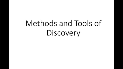 Thumbnail for entry Methods and Tools