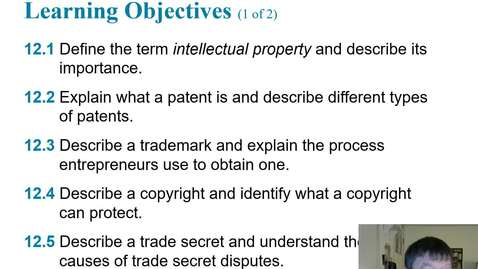 Thumbnail for entry HB 358 Chapter 12 The Importance of Intellectual Property Part 1