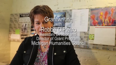 Thumbnail for entry Grantwriting with Robbe DiPietro - Michigan Humanities Council