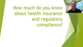 Thumbnail for entry Health Insurance Regulatory Compliance
