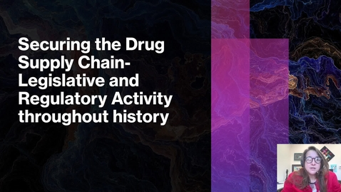 Thumbnail for entry securing the drug supply chain